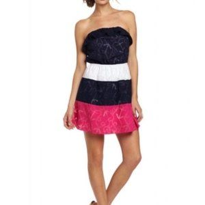 Lilly Pulitzer Colorblock Libby Dress Strapless